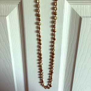 Long Gold Lucky Brand Necklace